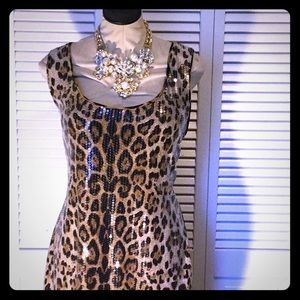 Forever 21 cheetah print party dress size 1x nwot